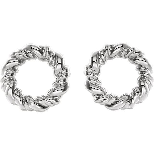 Sterling Silver Circle Rope Earrings
