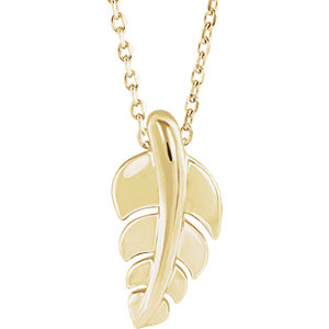 Necklace / Chain , Leaf Necklace or Pendant