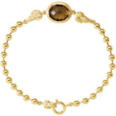 Be Posh® Checkerboard Honey Quartz Bracelet