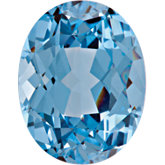 Oval Chatham Created Aqua Blue Spinel