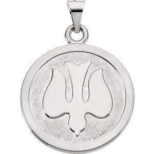 Sterling Silver 23mm Holy Spirit (Dove) Medal