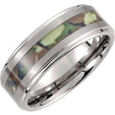Tungsten & Camo Inlay Band