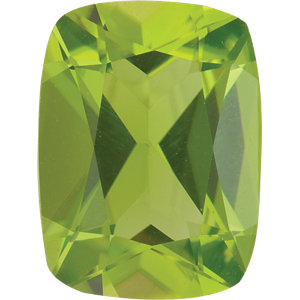 Peridot Cushion 1.50 carat Green Photo