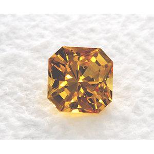 Sapphire Asscher 1.18 carat Yellow Photo