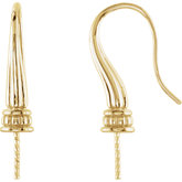 Bishop Hook Ear Wires for Pearls