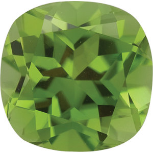 Peridot Cushion 0.65 carat Green Photo