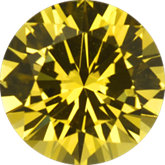 Round Genuine Yellow Sapphire (Black Box)