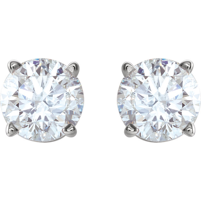 14K White 1 CTW Diamond Earrings