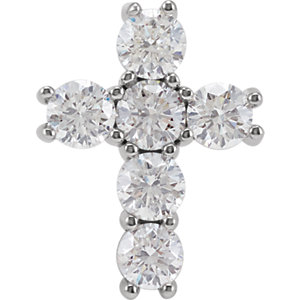 Pendant, Platinum 1 1/2 CTW Diamond Cross Pendant