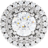 Round French-Set Halo-Style Shank Setting