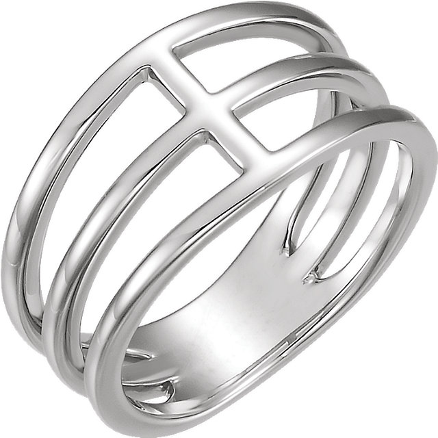 Sterling Silver Negative Space Ring