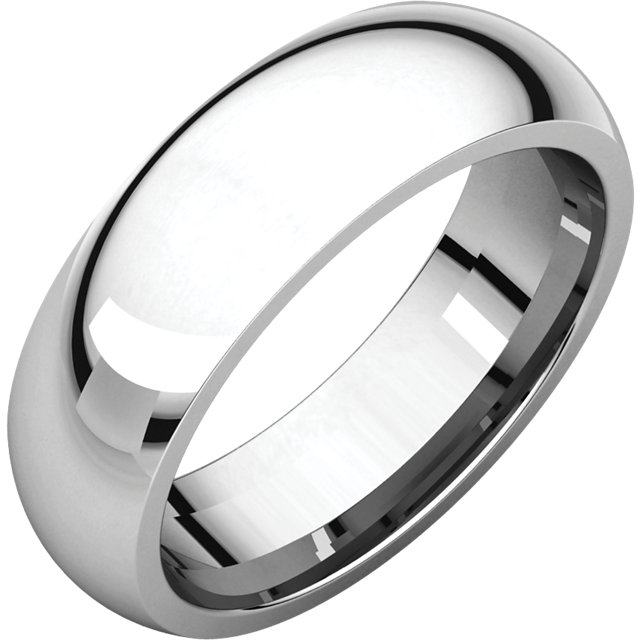 Platinum 6mm Comfort-Fit Band