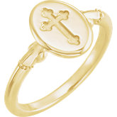 Signet Cross Ring