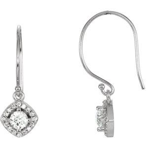Earrings , 14K White 5/8 CTW Diamond Earrings