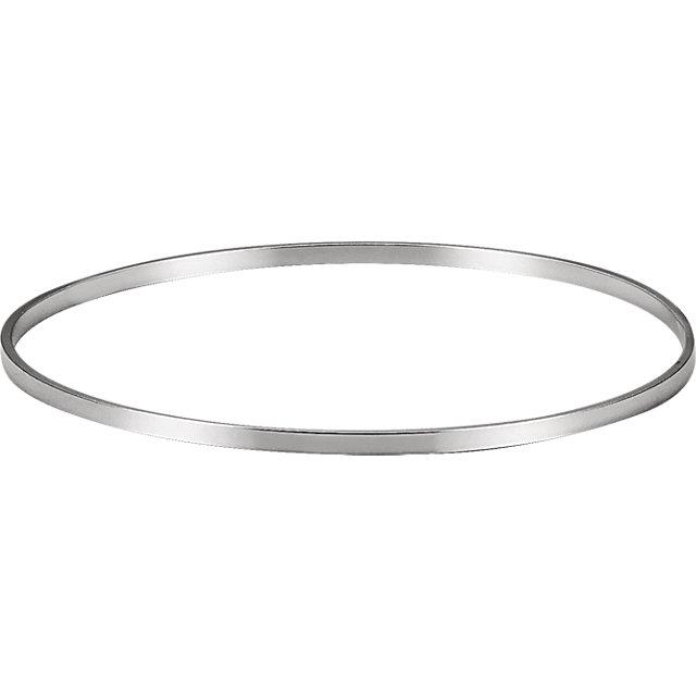 Sterling Silver 2.25 mm Bangle Bracelet