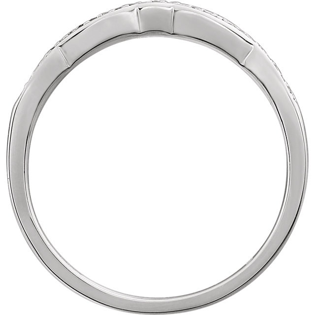 14K White .07 CTW Diamond Band for 4mm Round Ring