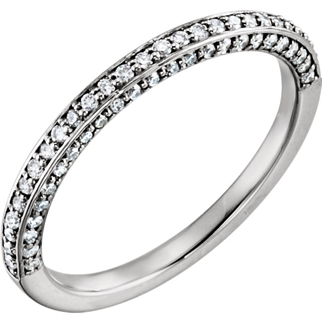 14K White 1/3 CTW Diamond Matching Band