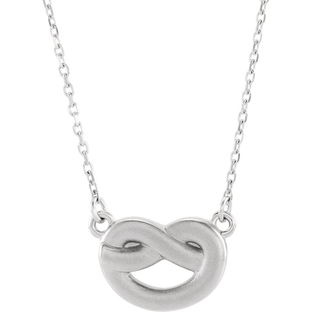 Sterling Silver Knot 16-18
