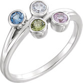 Bezel Set Family Ring