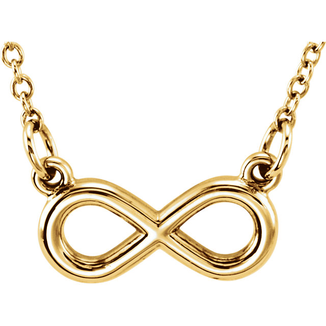14K Yellow Tiny Posh® Infinity-Inspired 16-18