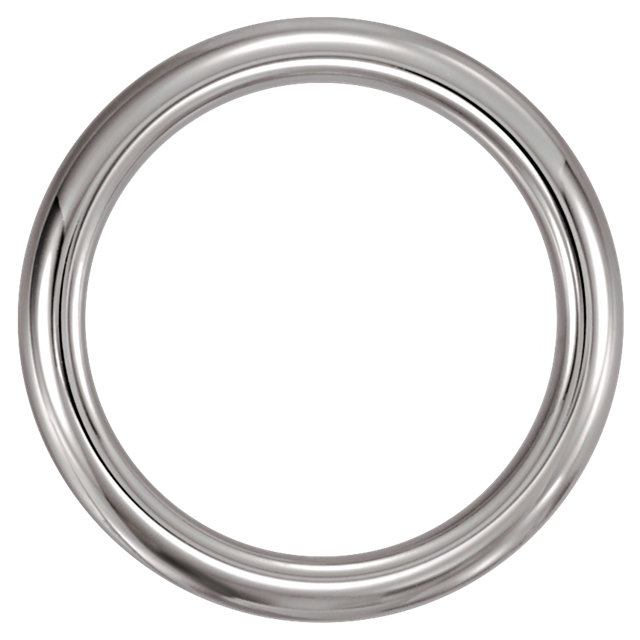 White Tungsten 4 mm Domed Band Size 7.5