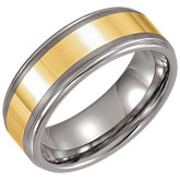 Gold Immerse Plated Tungsten Band