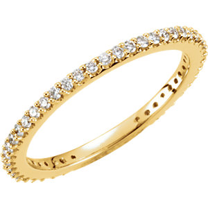14K Yellow 1/3 CTW Diamond Stackable Ring Size 7