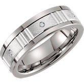 Comfort-Fit Tungsten & Karat Gold Band