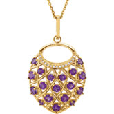 Accented Nest Necklace or Pendant