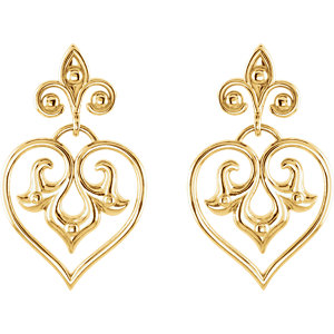Sterling Silver Decorative Dangle Earrings