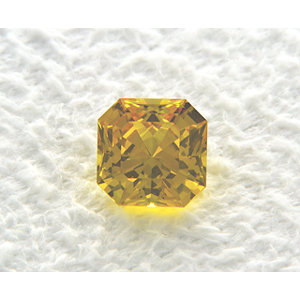 Sapphire Asscher 0.87 carat Yellow Photo