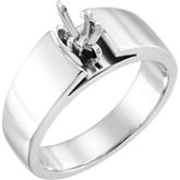 6-Prong V-End Solitaire Engagement Ring or Band