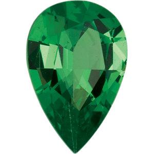 Garnet Pear 0.40 carat Green Photo