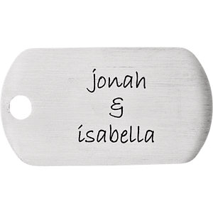 Stainless Steel 21x38mm 20 Gauge Little Dude Engravable Dog Tag