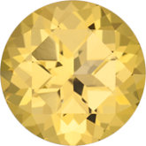 Round Genuine Honey Topaz