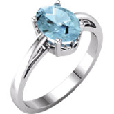 Solitaire Scroll Setting® Ring