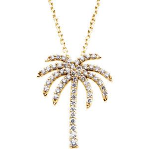 14k yellow 14 ctw diamond palm tree 16 necklace stuller 14k yellow 14 ctw diamond palm tree 16 necklace aloadofball Images