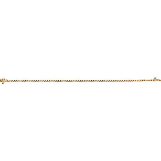 14K Yellow 1 CTW Diamond Line 7.25