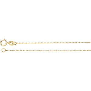 14K Yellow .75mm Solid Rope 18