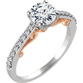 Fancy Scroll Engagement Ring