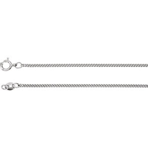 Sterling Silver 1.6mm Solid Curb Link Flat Chain 24