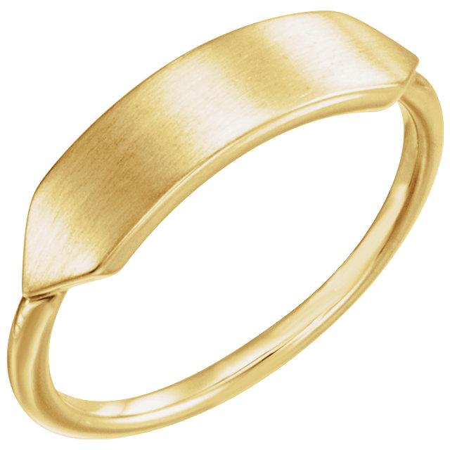 14K Yellow Signet Ring