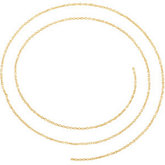 1mm Solid Diamond Cut Cable Chain