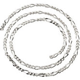 3.5mm Sterling Silver Figaro Chain