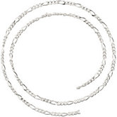 2.5mm Sterling Silver Figaro Chain