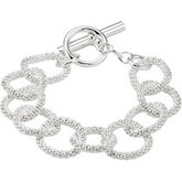 21mm Sterling Silver Mesh Link Bracelet or Necklace