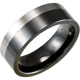 8.0mm Ceramic Couture® & Tungsten Flat Band