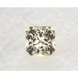 Sapphire Asscher 0.84 carat Yellow Photo