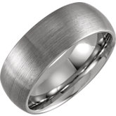 Domed Band with Satin Finish