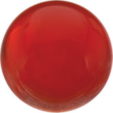 Round Genuine Reddish Orange Carnelian